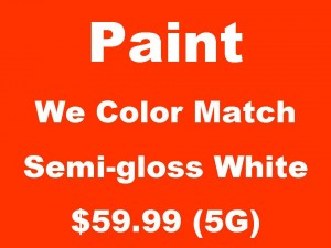 El Paso Paint store, Save on Latex Paint, Semi-gloss White, Color Match, Paint sale, Interior Design Supply